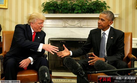 奥巴马盼特朗普释放团结信号 呼吁同僚接受结果