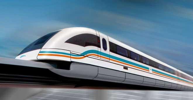 研制一列设计时速600公里高速磁浮试验列车.