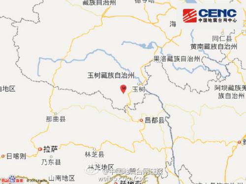 青海玉树州囊谦县4.8级地震 部分房屋倒塌一人轻