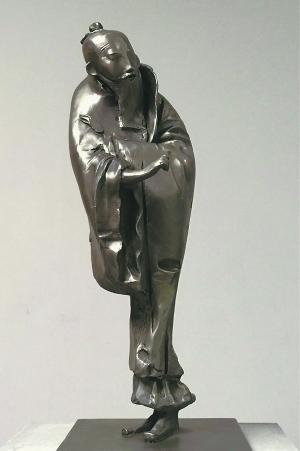 作品《山水》则直接用雕塑的方式回应中国绘画的形式图片
