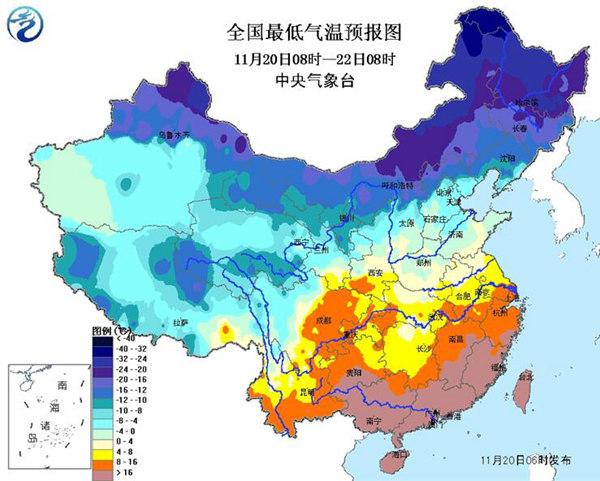 寒潮黄色预警:河南等5省部分地区降温达16℃以上