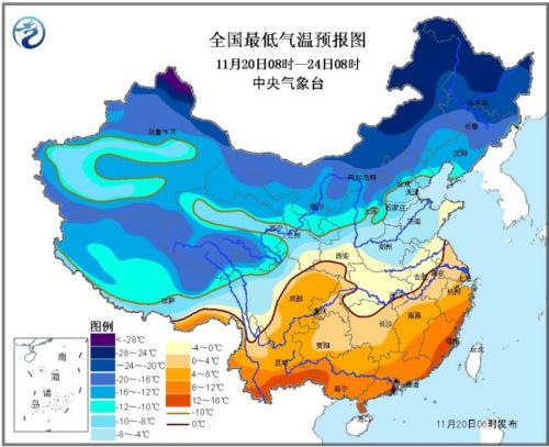 寒潮来袭中东部大部地区将大幅降温 局地降温超16℃