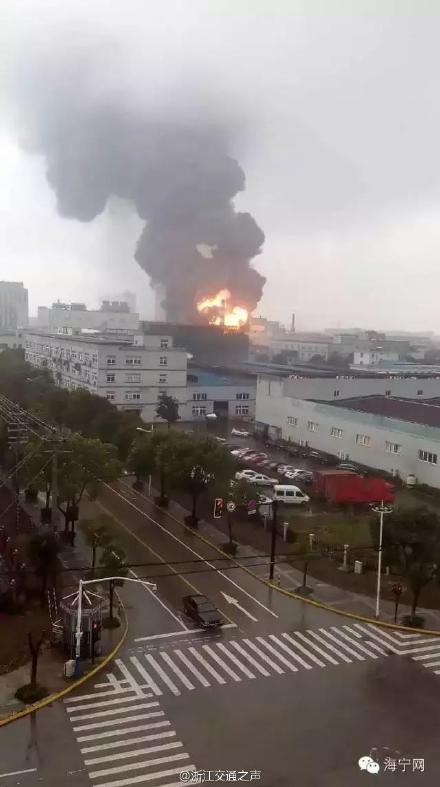 浙江海宁一企业锅炉车间发生爆炸 已造成2死3伤