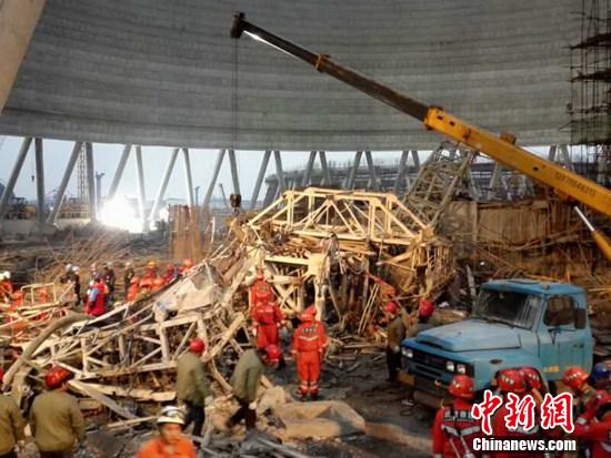 江西电厂坍塌事故1位失联人员找到 正在抢救