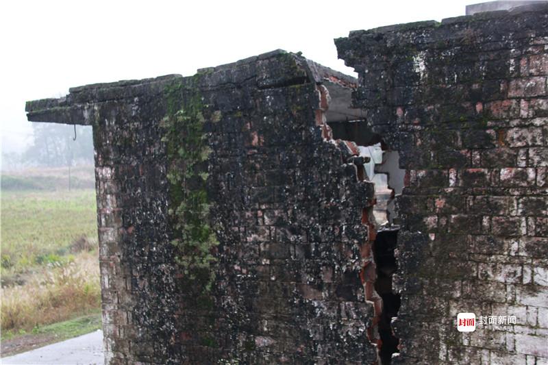 地陷灾害,造成民房倒塌、多幢民房不同程度开裂。