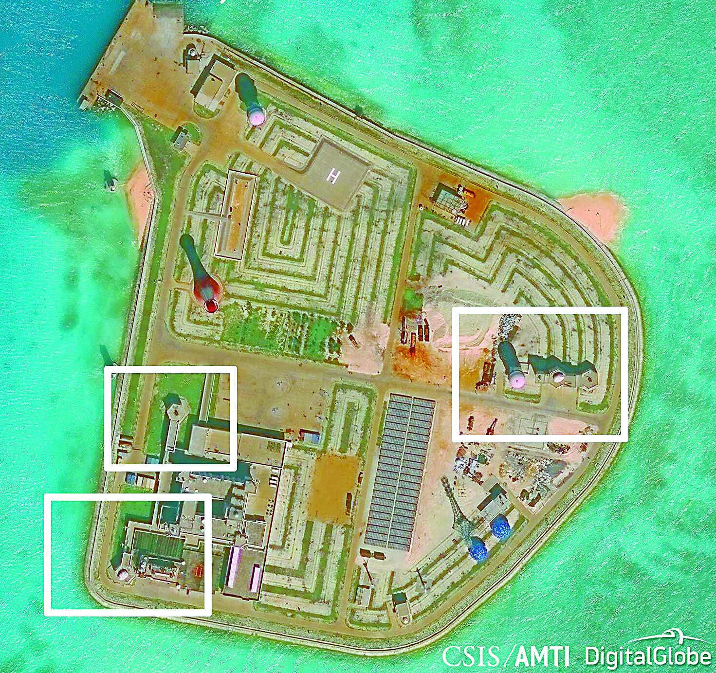 专家:南海岛礁可部署反舰导弹 配近防炮远不够