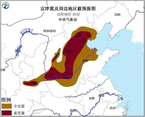 我国雾霾影响区域已达142万平方公里 仍将持续