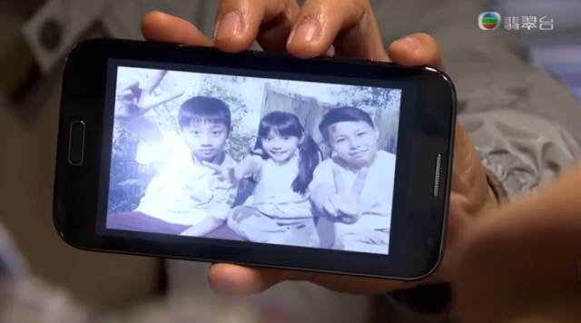 張三個小孩子的照片