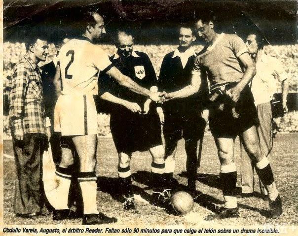 """内疚的巴雷拉想重踢一次1950年的世界杯""""决赛""""。"""