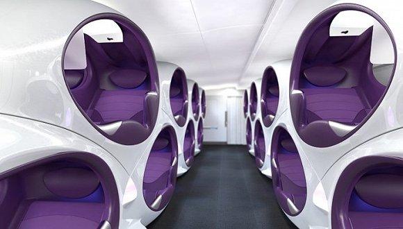 看看未来的飞机机舱 航空公司要努力证明那些怀旧的乘客并不正确