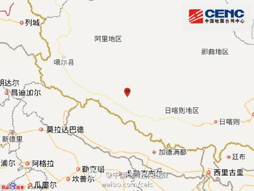 西藏日喀则市仲巴县发生4.7级地震 震源深度9千米_新浪新闻