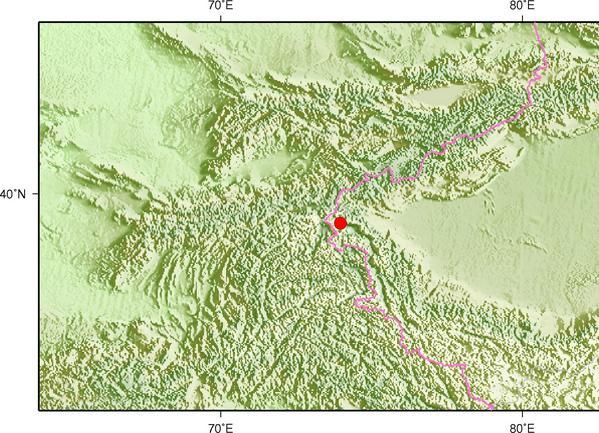 1月7日12时58分新疆克孜勒苏州阿克陶县发生3.2级地震