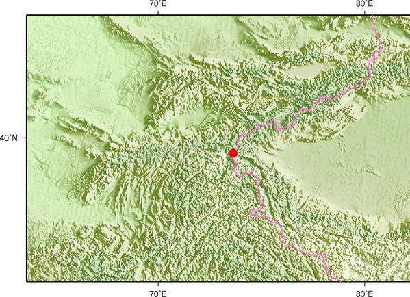 1月7日16时36分新疆克孜勒苏州阿克陶县发生3.4级地震