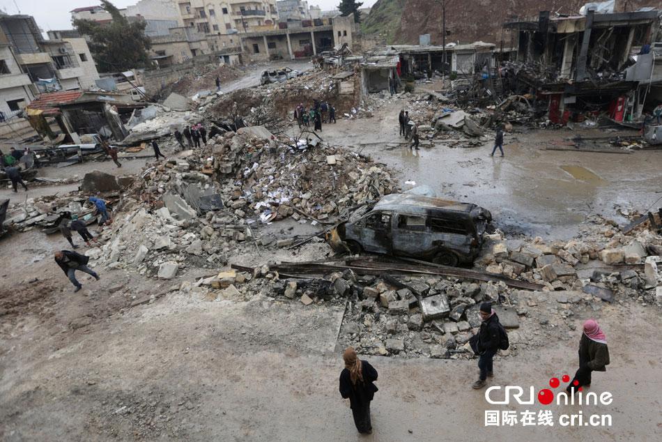 叙利亚反对派控制区发生卡车爆炸事件