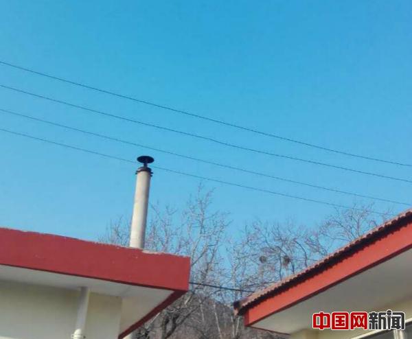 2017年1月1日,密云区高岭镇白河�敬逑掠�子,许辉家院子。照片由许辉提供