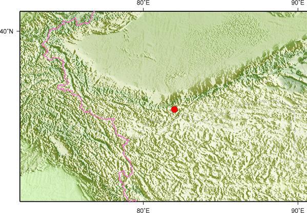1月9日10时15分新疆和田地区于田县发生3.1级地震