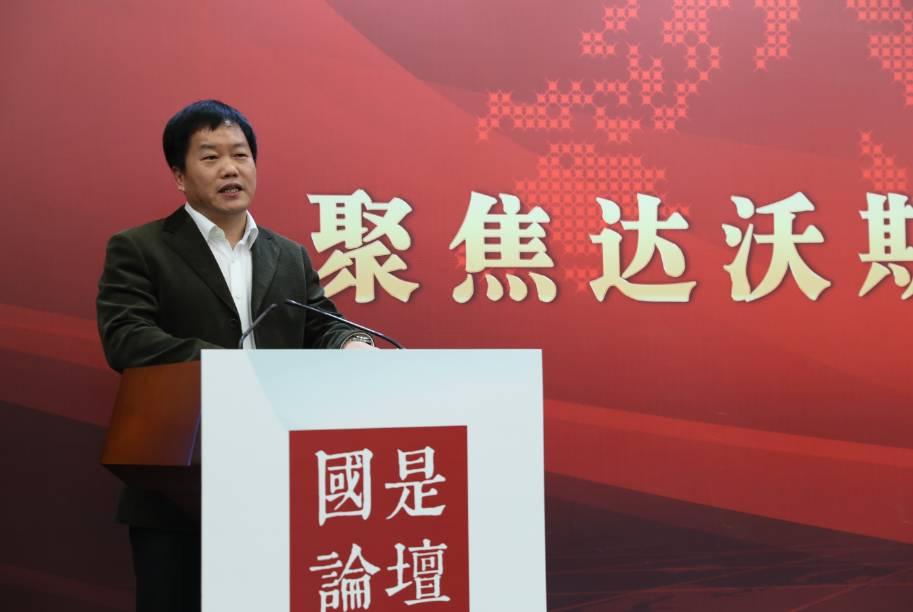 中國社科院國際投資研究中心學術委員會副主任、研究員曹建海。中新社夏賓 攝