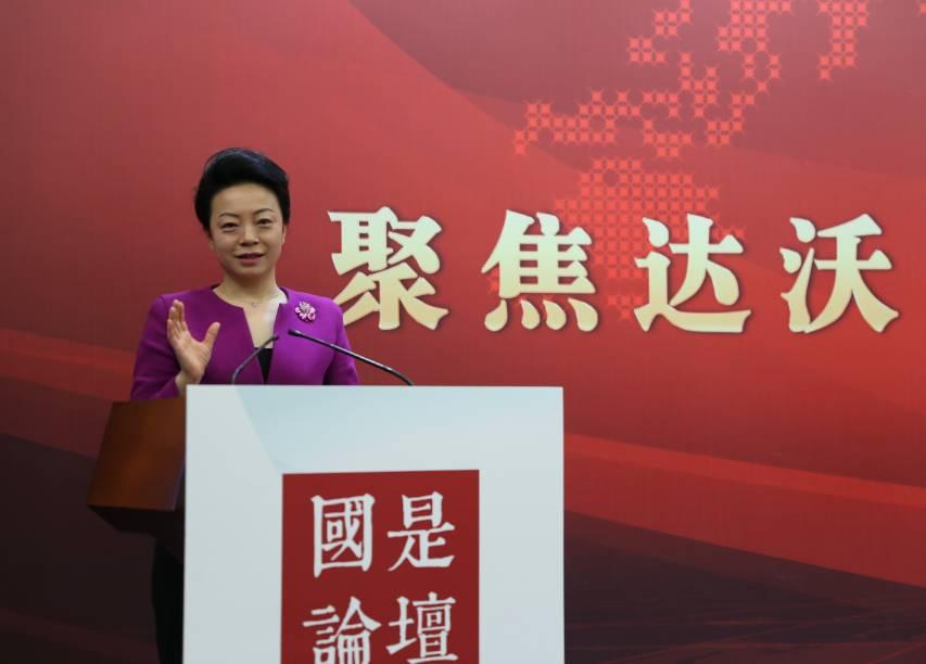 中國貿促會研究院國際貿易研究部主任、研究員趙萍。中新社夏賓 攝