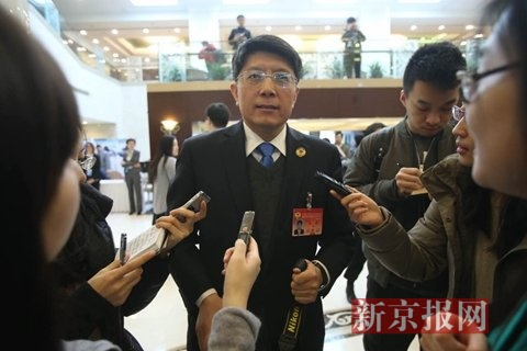 政协委员朱良。新京报记者 王贵彬 摄