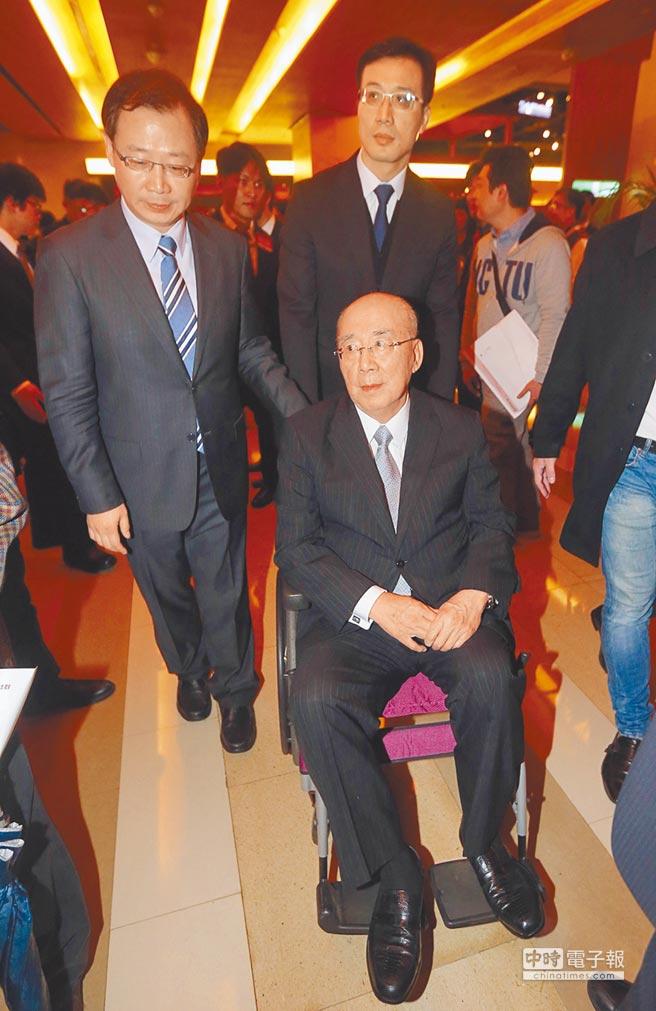 """国民党前主席吴伯雄(图片来源:""""中时电子报"""")"""