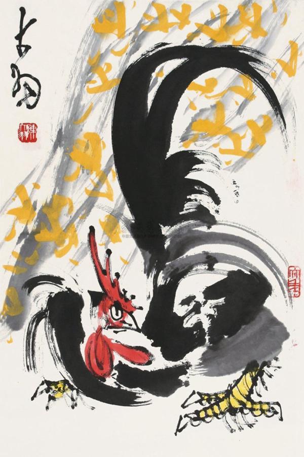 《鸡》 现代 陈大羽