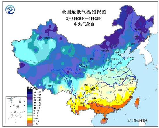 中央气象台发寒潮蓝色预警 陕西广东等10省降温超10℃