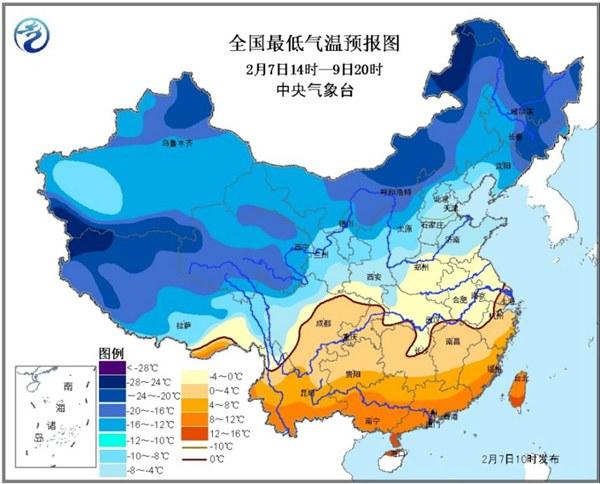 寒潮蓝色预警 广东广西等10省区局地降温将超10℃