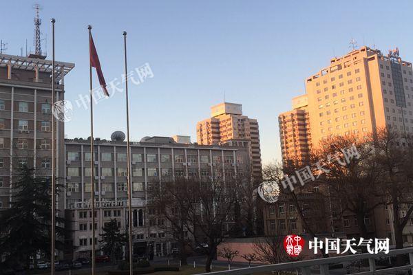 2月10日7时,北京蓝天依旧。