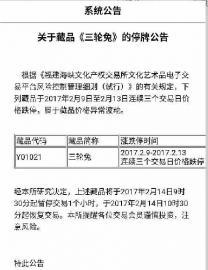 """""""福建海峡文化产权交易所""""官方发布的公告截图 B24"""