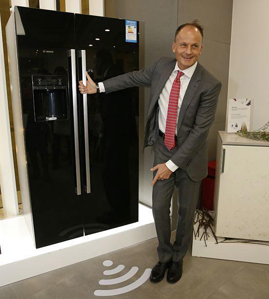 """搭载""""家居互联""""平台的冰箱"""