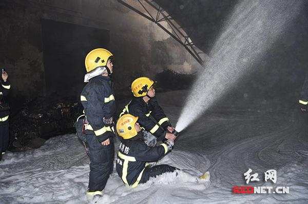 长沙新港集星集装箱仓库发生火灾 现场无人员伤亡(图)