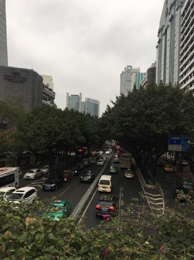 昨天,广东天气阴沉。图片来源:微博网友