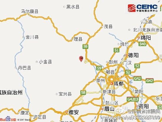 四川汶川4级地震系9年前地震余震 部分房屋裂纹