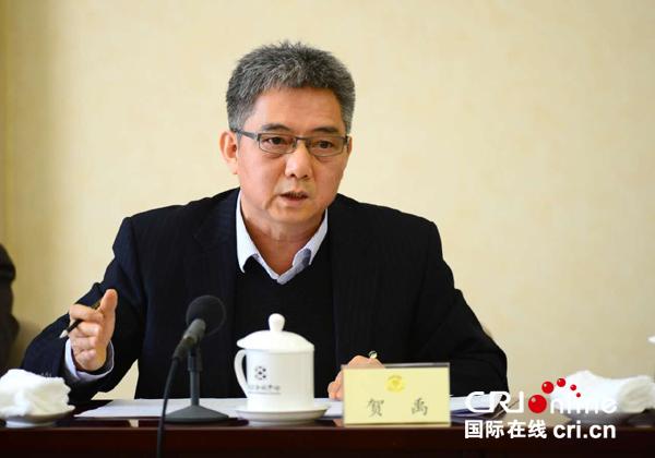 贺禹委员在全国政协十二届五次会议小组讨论会上。(中广核供图)