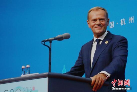 材料图片:欧洲理事会主席图斯克。 中新社记者 何蒋怯 摄