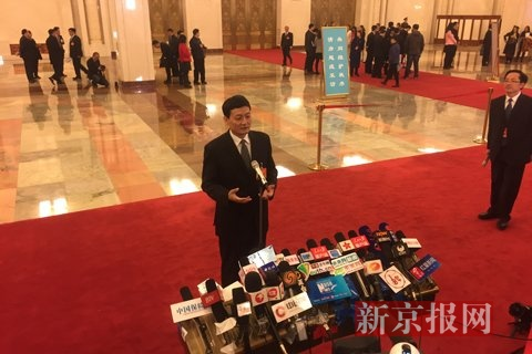国资委主任肖亚庆。新京报记者 薛�B 摄