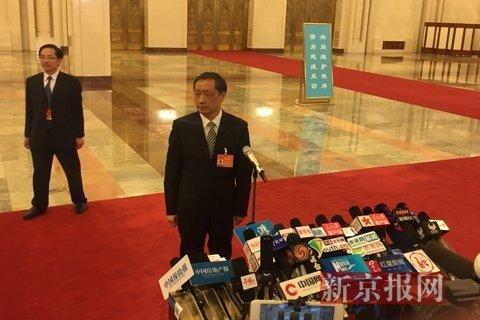国家旅游局局长李金早。新京报记者 薛�B 摄