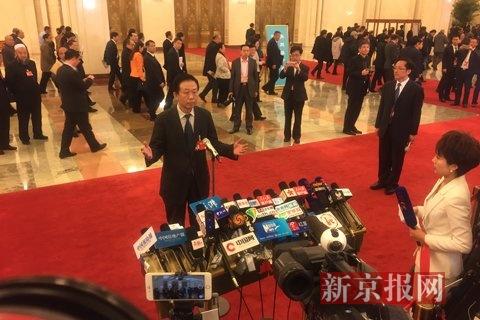 财政部部长肖捷。新京报记者 薛�B 摄