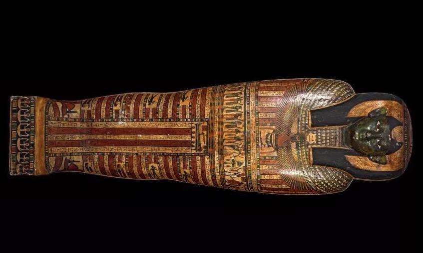 古埃及女贵族木棺。