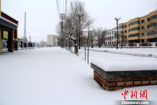 青海大柴旦降破纪录暴雪 积雪深度达20厘米