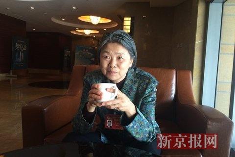 全国政协委员、最高人民法院原副院长黄尔梅。新京报记者 王硕 摄