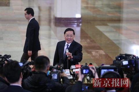 住建部部长陈政高。新京报记者 薛珺 摄