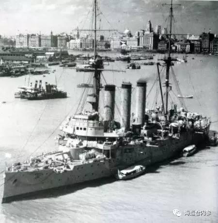 抗战时代停靠在上海吴淞口的出云号巡洋舰。照片由建川博物馆供给