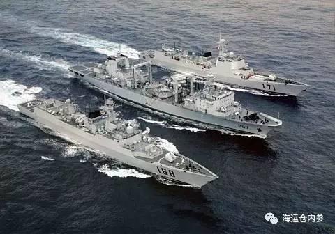 中国海军新型驱逐舰护卫舰编队
