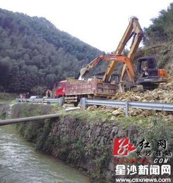 长沙县茶培线范林村段山体滑坡 今日将恢复