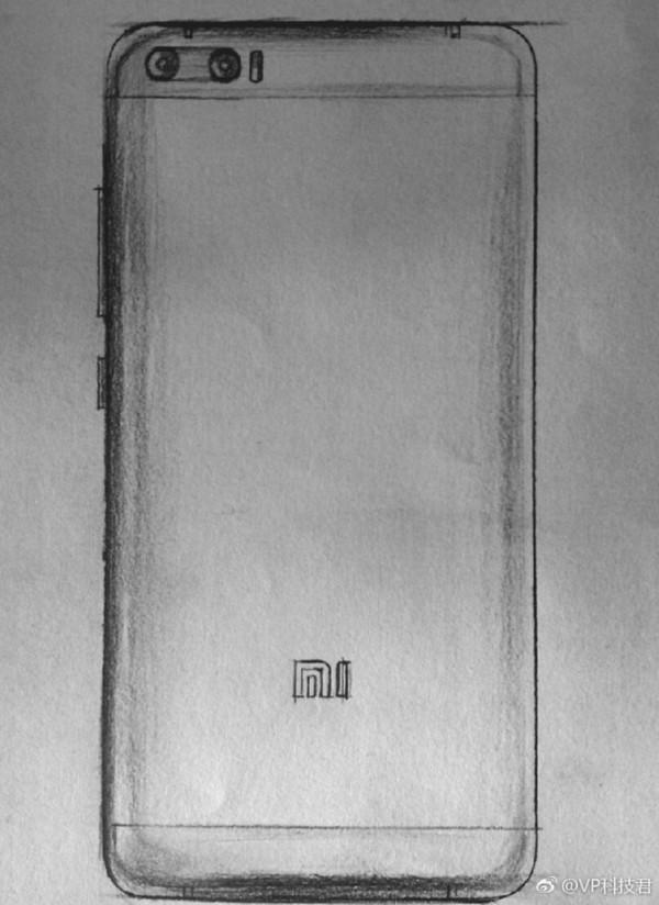 疑似小米6手绘图-周末烩 努比亚Z17mini曝光 S8登上淘宝