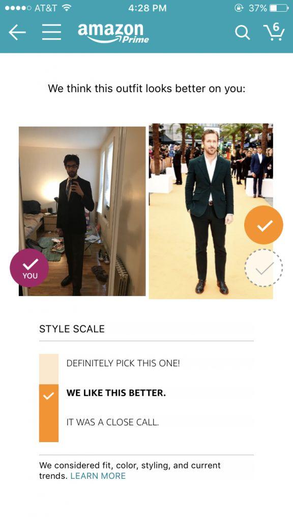 """亚马逊推出穿搭评分工具:让""""直男癌""""一秒变型男"""