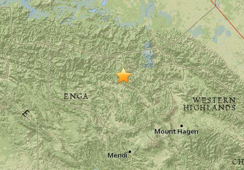 巴布亚新几内亚发生5.2级地震 震源深度109公里