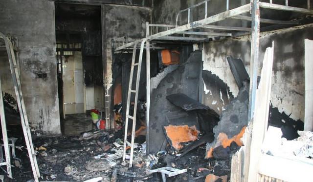 使用违规电器导致宿舍起火