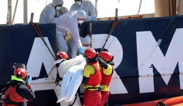 载有200多名难民的船只在地中海沉没